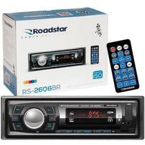 Rádio Automotivo Roadstar Bluetooth USB Sd Auxiliar -