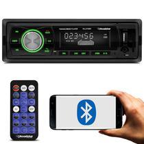 Rádio Automotivo Som Bluetooth MP3 Player 1 Din LCD USB AUX P2 SD AM FM WMA Roadstar RS-2709BR -