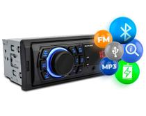 Rádio Automotivo Som Bluetooth MP3 Player 1 Din USB FM com Controle Multilaser Trip BT P3344