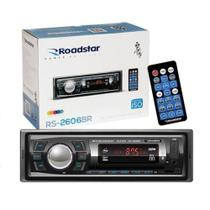 Radio Automotivo Toca MP3 Roadstar RS-2606BR Bluetooth USB - Roadstar brasil