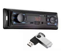 Rádio Automotivo Vibe MP3 + Pendrive 8GB 4x25W FM / SD / USB / AUX Multilaser