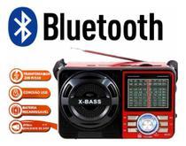 Rádio Bass Retro Vintage Usb Mp3 Bluetooth A-1088 - Altomex -