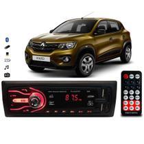 Rádio Bluetooth Aparelho De Som Carro Automotivo Renault Kwid Pendrive Sd Rádio - First Option