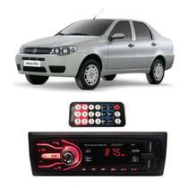 Rádio Bluetooth Aparelho De Som Carro Fiat Siena Pendrive Automotivo Sd Rádio - First Option