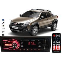 Rádio Bluetooth Aparelho De Som Carro Fiat Strada Automotivo Pendrive Sd Rádio - First Option