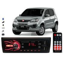 Rádio Bluetooth Aparelho De Som Carro Novo Uno Automotivo Pendrive Sd Rádio - First Option