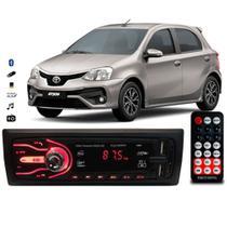Rádio Bluetooth Aparelho De Som Carro Toyota Etios Automotivo Pendrive Sd Rádio - First Option