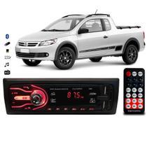 Rádio Bluetooth Aparelho De Som Carro Vw Saveiro Automotivo Pendrive Sd Rádio - First Option