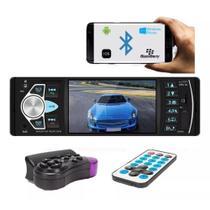 Rádio Bluetooth Automotivo Aparelho De Som Carro Dvd MP5 Usb Sd Card Aux - Exb