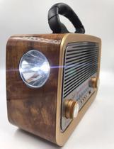 Rádio bluetooth Fm/Am/Sw USB bateria recarregavel - altomex