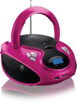 Radio Boombox Cd Player/Usb/Cartao/Fm/Rosa Multilaser