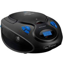 Rádio Boombox Multilaser SP223 20W 6 em 1 Bluetooth FM/USB/SD/BT/CD Preto