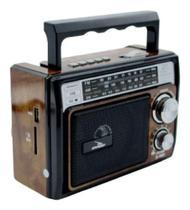 Rádio Caixinha Som Retrô Bluetooth Am Fm Sw Usb SD - Grasep