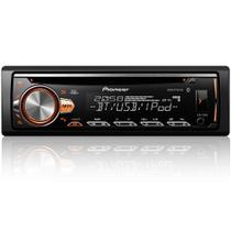 Rádio CD Player Pioneer DEH-X50BR Display Cores - Bluetooth/USB/MIXTRAX