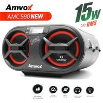 Radio Cd Player Usb AM/FM SD Aux 15W Boombox Amvox AMC 590 New -