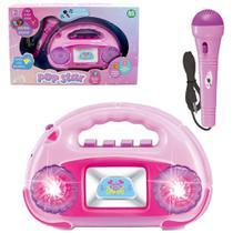 Radio com Microfone Amplificador Infantil com Musicas e Luzes - Kopeck