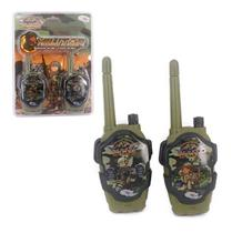 Rádio comunicador walkie talkie infantil militar camuflado - Wellmix