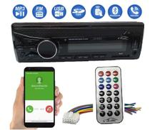 Radio de Carro Som Automotivo com Bluetooth Mp3 Usb Sd WMA AUX IN 45wx4 atende chamada - Lelong