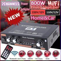 rádio FM G30 HiFi Bluetooth Suporte SD / USB / DVD / MP3 com controle remoto - N/A