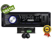 Radio Fm Mp3 Bluetooth Modulo Amplificador Digital Compacto e Par alto Falantes 6'' 120w - Roadstar