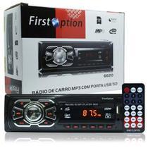 Radio Fm P/ Carro Mp3 Automotivo Usb Sd Aux Player Toca Som - Diversos