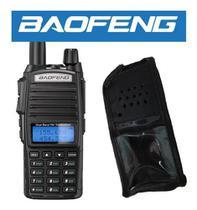 Rádio Ht Baofeng Uv82 Portátil Profissional 10w Com Capa De Couro -
