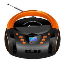 Rádio Lenoxx Bd-121 Preto E Laranja, Rádio Am/fm Estéreo Com Cd, Mp3 Player, Usb E Entrada Usb