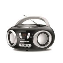 Rádio Mondial Boombox BX-18 Entrada USB Fone de Ouvido Rádio FM Display Digital 6W RMS -