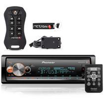 Radio Mp3 Automotivo Pioneer Bluetooth Multi-Color  + Controle Stetsom Sx2 Light - Pioneer Stetsom