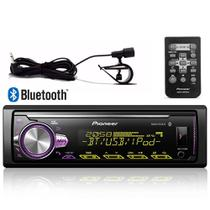 Radio Mp3 Automotivo Pioneer Bluetooth Multi-Color Mvh-x30br USB Aux