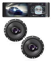 Radio Mp3 Mp5 Player Automotivo Bluetooth 4.1 Polegadas 1 Din +Pioneer Ts-1760br 50w 6 Polegadas - Lm electronics