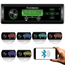 Radio MP3 Player 1 Din com Painel Fixo Display Touch Button - First Option