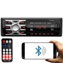 Rádio MP3 Player 6660BN 1 Din 3.5 Polegadas Bluetooth LED USB SD FM First Option -