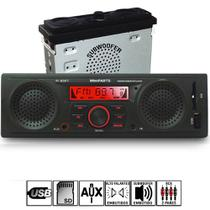 Radio Mp3 Player Automotivo + 1 Alto-falantes E Sub Integrados Usb Sdcard Pi0027 - Winnparts