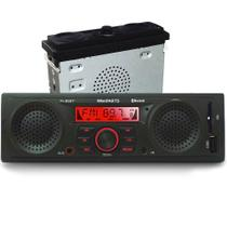 Radio Mp3 Player Automotivo Bluetooth + 2 Alto-falantes E 1 Sub Integrados Usb Sdcard-pi0027 Pi0027 - Winnparts