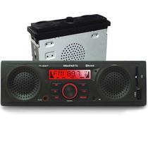 Radio Mp3 Player Automotivo Bluetooth 2 Falantes 1 Sub Integrados Usb Sdcard Winnparts Alto Pi0027 -