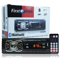 Rádio Mp3 Player Automotivo Bluetooth First Option 6630b Fm Sd Usb Controle - Manfer Com. E Importacao Ltda