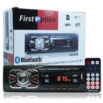 Rádio Mp3 Player Automotivo Bluetooth First Option 6630b Fm Sd Usb Controle - Manfer Com. E Importacao Ltda