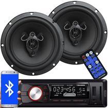 Rádio Mp3 Player Automotivo Bluetooth Fm Usb Roadstar RS-2709BR + 2 Alto Falante 6,5 Pol 130W Rms -