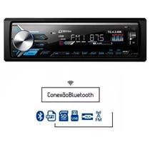 Rádio MP3 Player Automotivo Tiger TG-4.3.006 1 Din com USB SD AUX RCA FM Bluetooth -