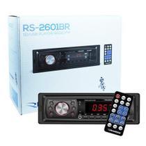 Rádio Mp3 Player Automotivo Toca Som Roadstar RS-2601BR Fm Usb Sd Aux Controle -