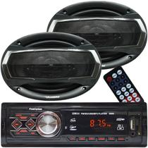 Rádio Mp3 Player Som Automotivo Usb First Option 8860 + Par Alto Falante Roadstar 6x9 Pol 240W Rms - First opt/roadstar