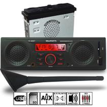 Radio Mp3 Usb Alto Falantes + Subwoofer Integrados Com Antena Curta Kit1343 - Winnparts