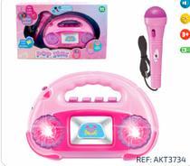 Rádio Musical Infantil com Microfone + Luz Pop Star - Ark Toys