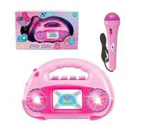 Radio Musical Infantil com Microfone Pop Star Luzes Brilhantes - Ark Toys