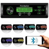 Radio para Carro MP3-5560 1 Din LCD Display Bluetooth USB - First Option