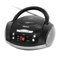 Rádio Philco Boombox PH61, 3,4W com CD Player e MP3 - Preto