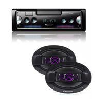 Rádio Pioneer Bluetooth Sphc10bt 2 Falante 6x9 Pol Triaxial -