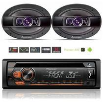 Rádio Pioneer Deh-S1280ub + Par Alto Falantes Ts-6960br 6x9 -