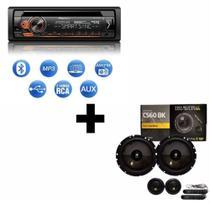 Rádio Pioneer DEH-S4280BT  + Kit 2 Vias Bravox CS60BK - Pioneer/Bravox